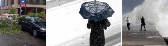 Temporal, alerta por viento y nieve