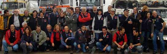 Los miembros de la caravana solidaria de Acció Solidària de este año.