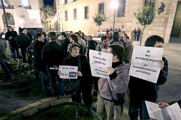 Manifestación internauta