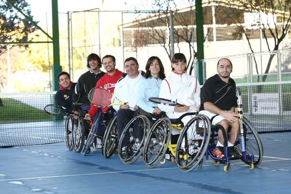Tenistas en silla de ruedas