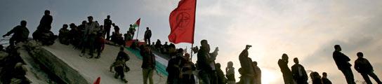 Manifestación en Gaza