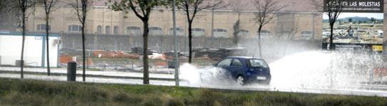 LLuvia intensa en Toledo.