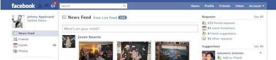 Aspecto renovado de Facebook