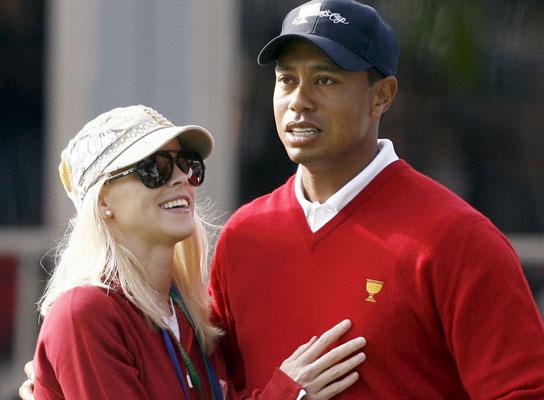 Tiger Woods y su mujer