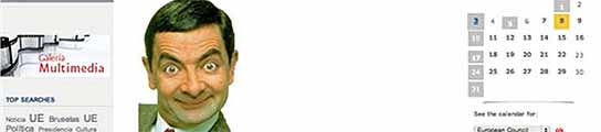 Mr Bean, en la web de la presidencia española de la UE