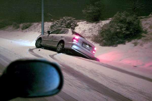 Problemas de tráfico por la nieve