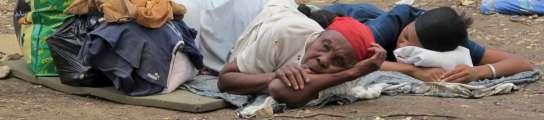 Daminificados por el terremoto de Haití