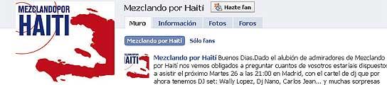 Grupo del músico Carlos Jean en solidaridad con Haití.
