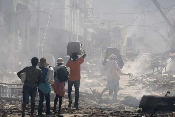 Terremoto en Haití.