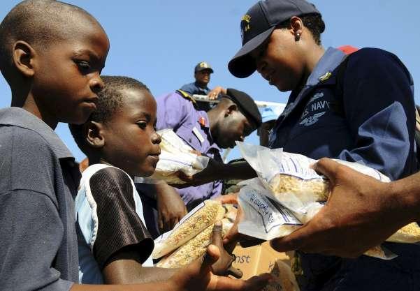 Ayuda humanitaria en Haiti
