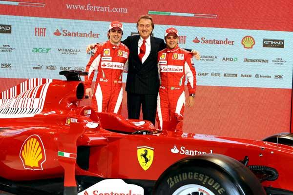 Alonso, Montezemolo y Massa