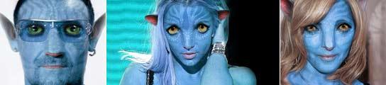 Famosos en el mundo de 'Avatar'