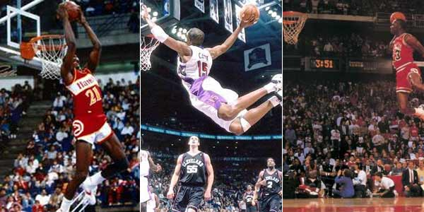 Dominique Wilkins, Vince Carter y Michael Jordan