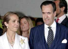 <p>La Infanta Elena y Jaime de Marichalar.</p>
