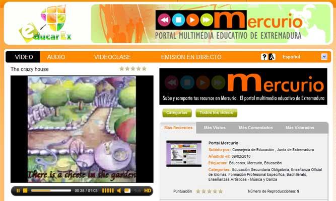 Portal educativo 'Mercurio'