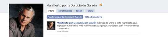 Apoyo a Garzón