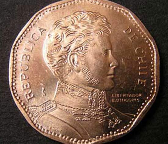 Error de escritura en las monedas de 50 pesos chilenos