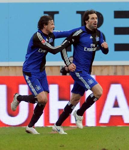 Van Nistelrooy con el Hamburgo