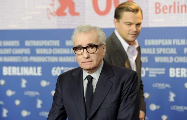 Martin Scorsese y el actor Leonardo Di Caprio
