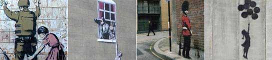Grafitis de Banksy