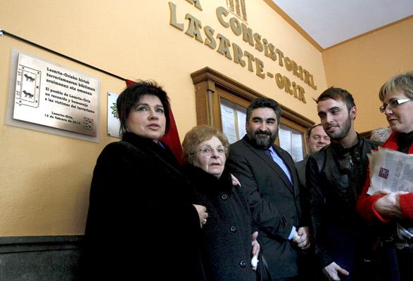 Homenaje a las víctimas de ETA.