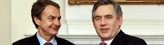 Zapatero y Brown