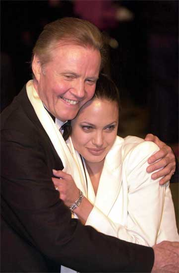 Angelina Jolie y su padre