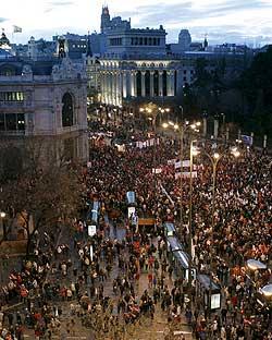 <p>Manifestación en Madrid contra la reforma de las pensiones</p>
