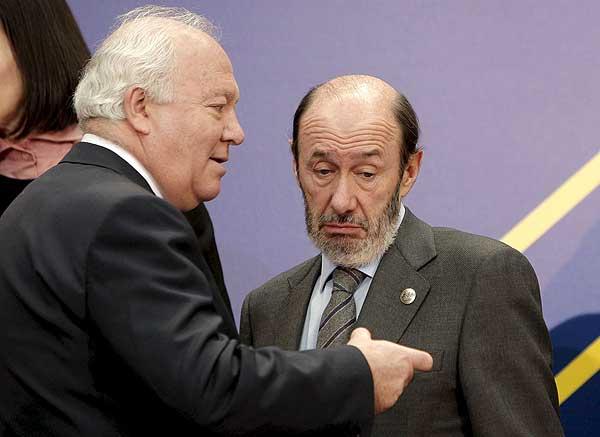 Moratinos y Rubalcaba