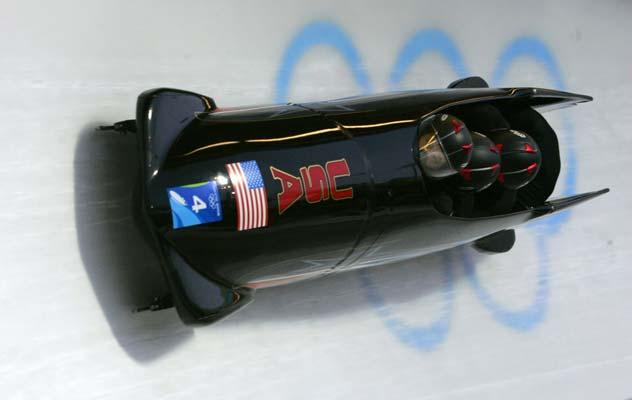 El equipo estadounidense de bobsleigh