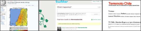 El terremoto de Chile en Internet