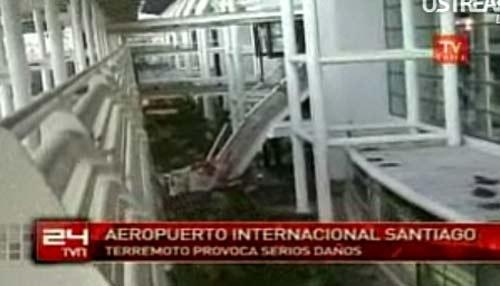 Terremoto en Chile (aeropuerto)