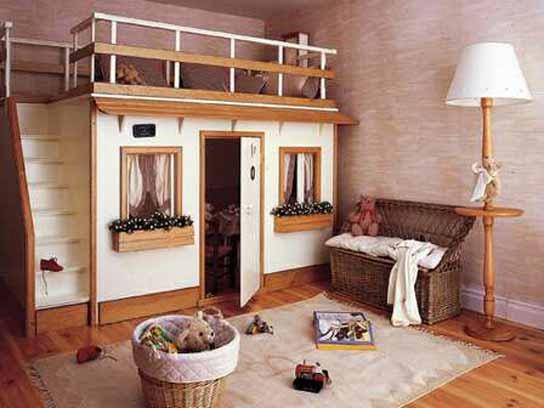 Cama y casa de mu ecas for Cama de casita