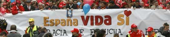 Antiabortistas se manifiestan en m�s de 100 poblaciones pidiendo la derogaci�n de la ley  (Imagen: EFE)