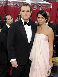 <p>Matt Damon y Luciana Barroso</p>