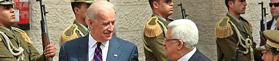 Joe Biden en su visita a Israel