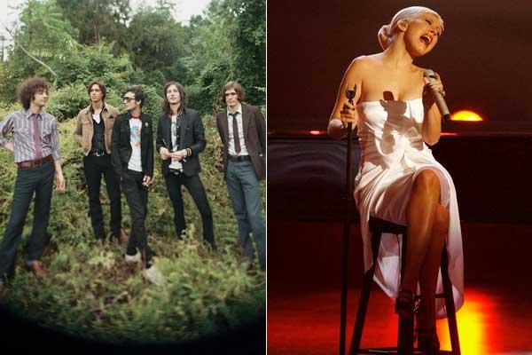 The Strokes y Christina Aguilera