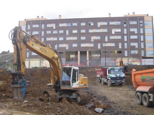 Maquinaria de construcción.