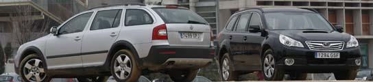 Subaru Outback 2.0 Boxer Diésel y Skoda Combi Scout TDI