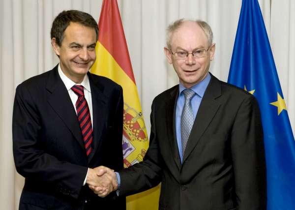 Zapatero y Van Rompuy