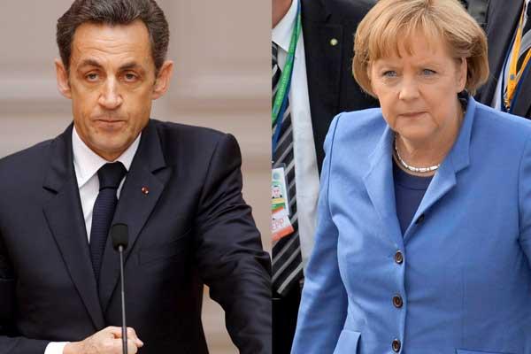 Sarkozy y Merkel