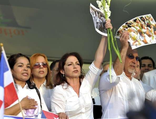 Manifestación en Miami en apoyo de las Damas de Blanco