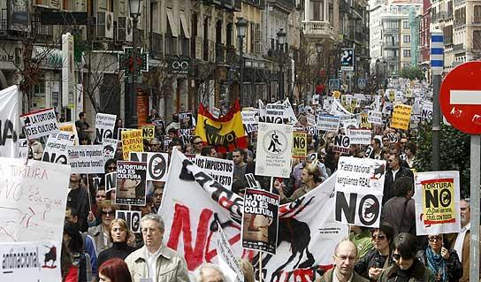 Más de 25.000 personas en Madrid contra la tauromaquia 1060368