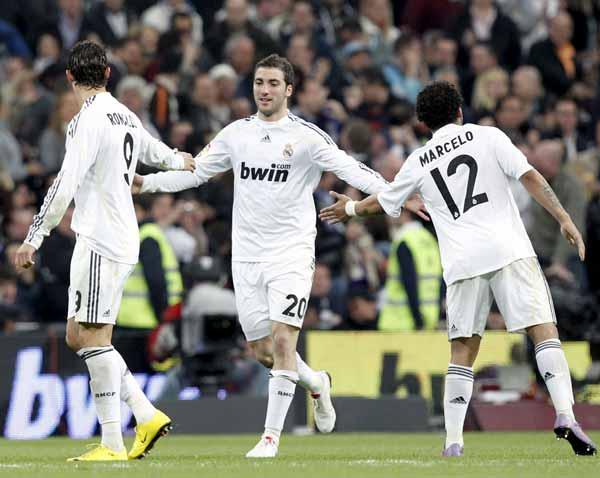 Higuaín, Cristiano Ronaldo y Marcelo