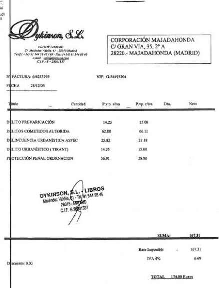 Facturas de la 'trama Correa'