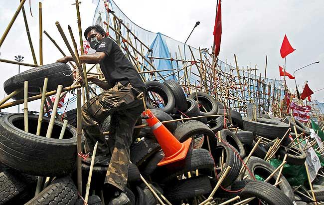 Barricadas en Bangkok