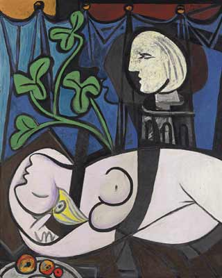 'Nude, Green Leaves and Bust', de Picasso.