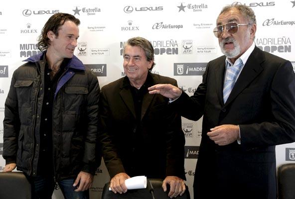 Moyá, Santana y Tiriac