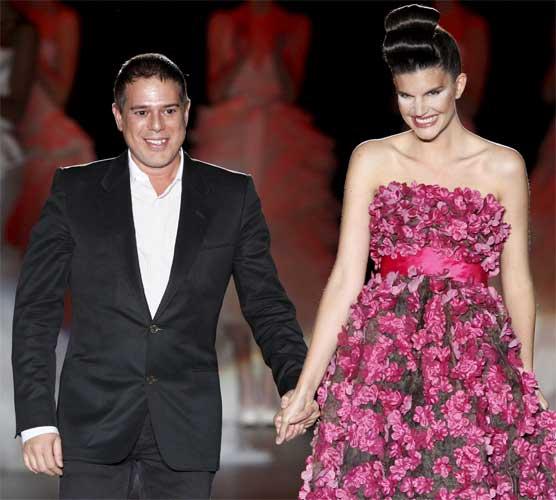 Vestidos novia rosas rosa
