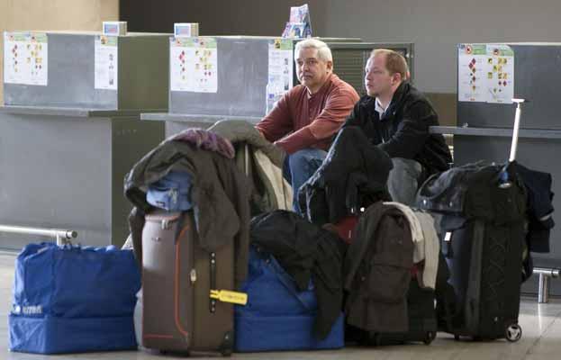 Espera en el aeropuerto de Sevilla.